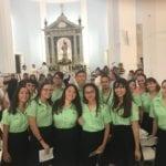 Seniors vegabajeños dicen presente en primera Misa del nuevo sacerdote