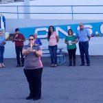 Encienden la corona de Adviento en Del Carmen